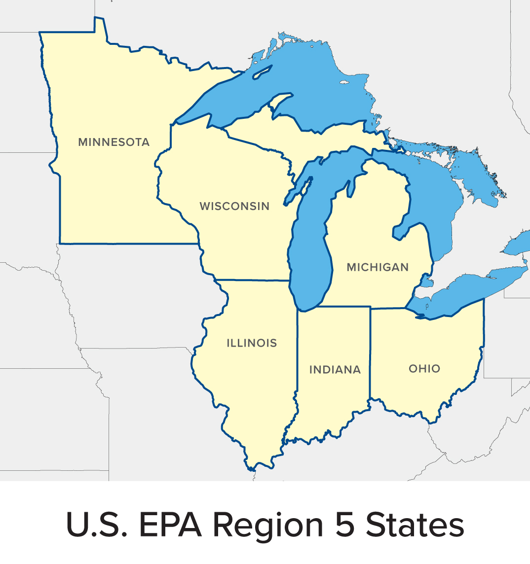 5 Great Lakes Map EPA Region 5 map 20170619   Great Lakes Commission